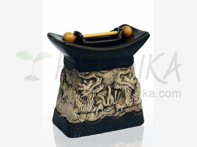 Aroma Lamp – Dragon pagoda black