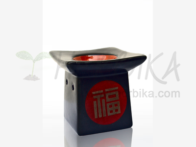Aroma Lamp – Pagoda with hieroglyphs in red