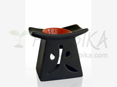 Aroma Lamp – Pyramid Fire with a red bowl