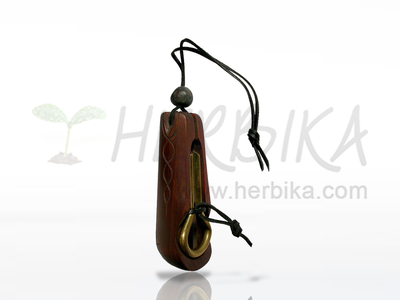 Small Kabaj – Drumla (Brumle, Jew's harp, Maultrommel, Khomus) in a container from Altai cedar  9.5cm
