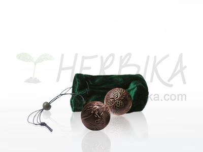 Tegerik – set of cedar balls for bioenergy massage  3.5cm