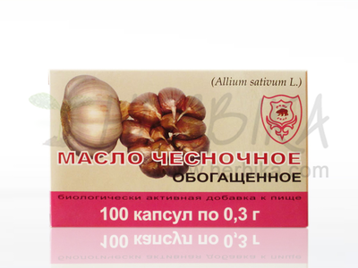 Enriched Garlic oil in capsules 100 caps