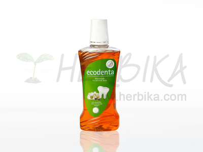 Ecodenta – Mouthwash for sensitive teeth with chamomile, clove extracts and Teavigo™  480ml