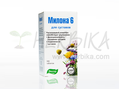 Milona 6 for protection of joints. Dietary supplement 100 tbl.
