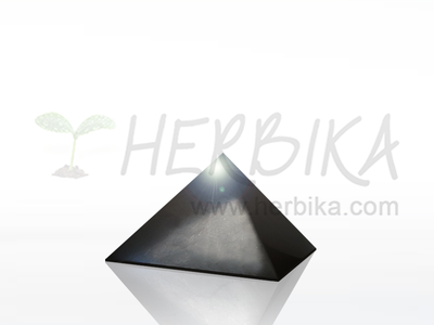 Shungite Pyramid 3×3 cm, polished, original Karelia