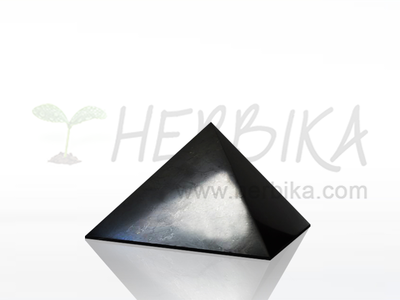 Shungite Pyramid 4x4 cm, polished, original Karelia