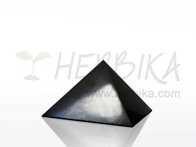 Shungite Pyramid 4x4 cm, polished, original Karelia
